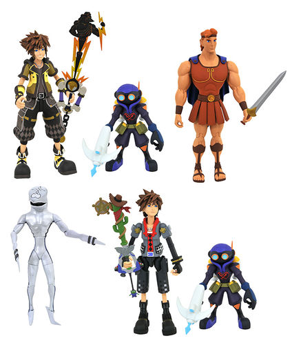 Kingdom Hearts 3 Sora Toy Story Hercules Diamond Select Action Figure