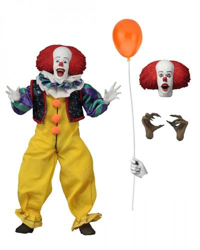 NECA IT Pennywise 1990 Clothed Action Figure Abiti In Tessuto