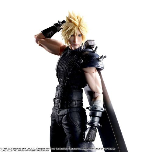 PREORDINE - Final Fantasy VII Remake Cloud Strife Play Arts Kai Action Figure V2