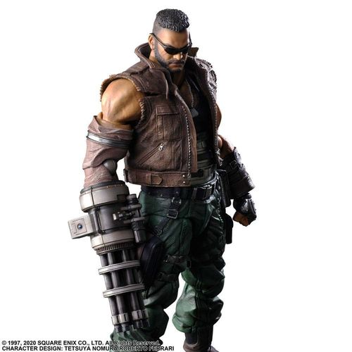 PREORDINE - Final Fantasy VII Remake Barret Play Arts Kai Action Figure V2