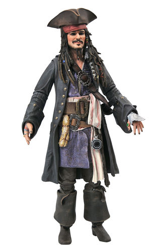 PREORDINE - Pirates Of The Caribbean Jack Sparrow Diamond Action Figure