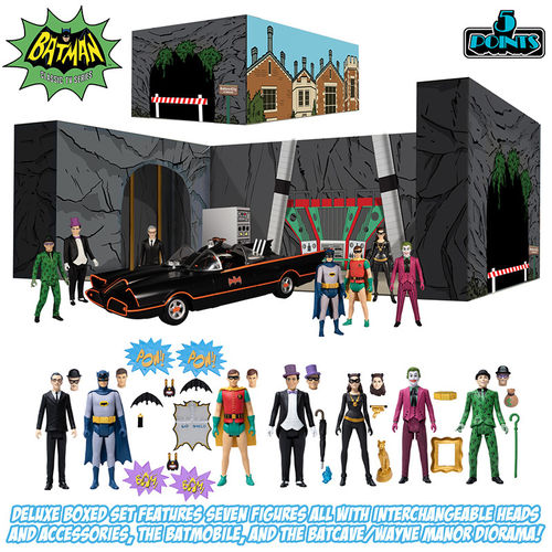 PREORDINE - Mezco 5 Points Batman 1966 Deluxe Action Figures Set