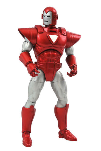 PREORDINE - Marvel Select Iron Man Silver Centurion Diamond Action Figure